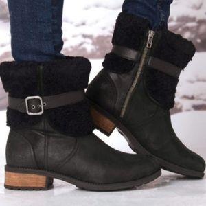New Ugg Blayre Waterproof Leather Boots 8